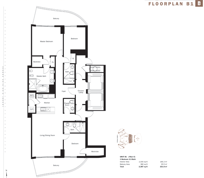 Trump Tower III - Floorplan 1
