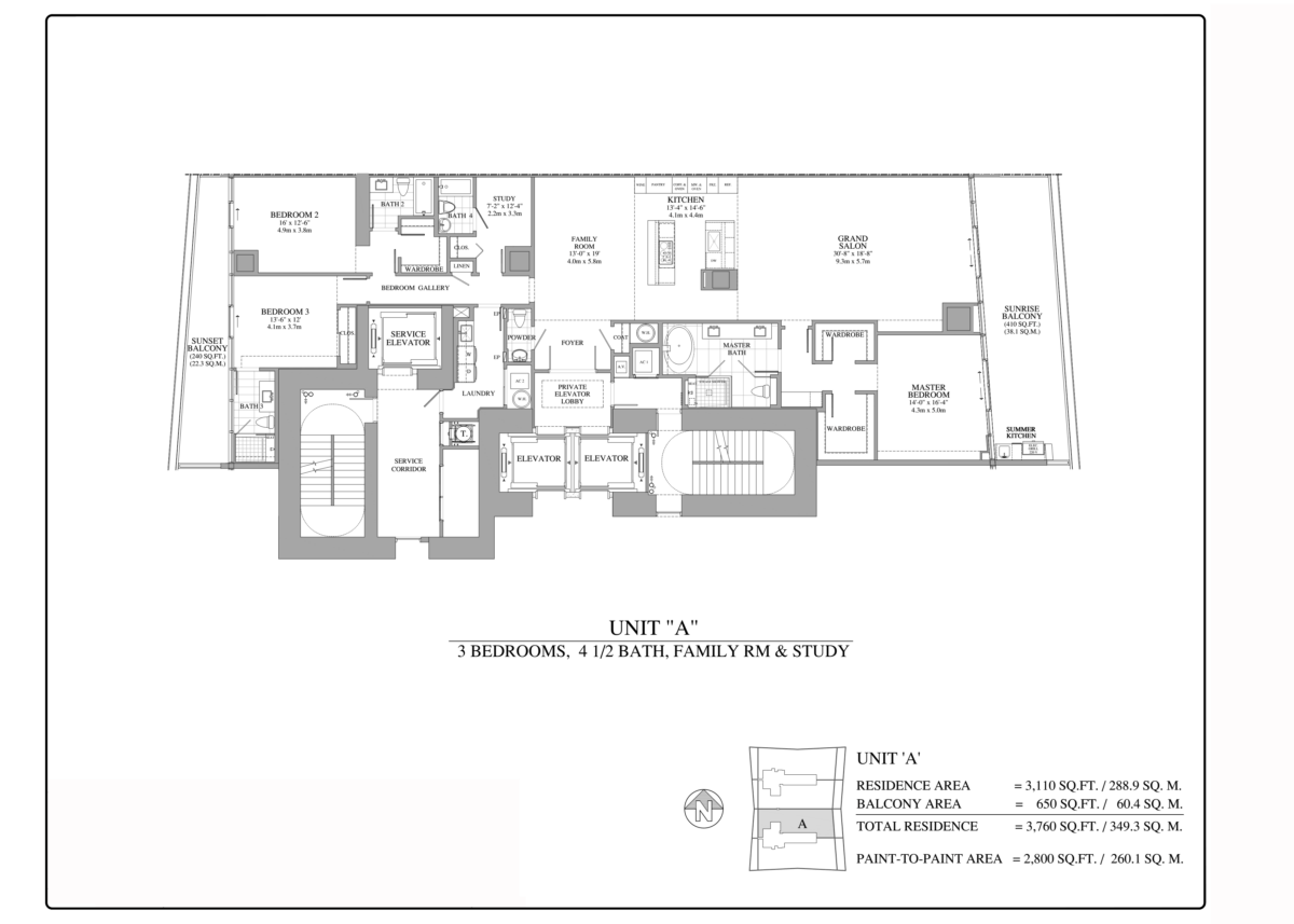 Turnberry Ocean Club - Floorplan 1