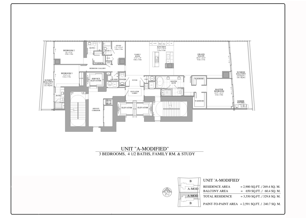 Turnberry Ocean Club - Floorplan 4
