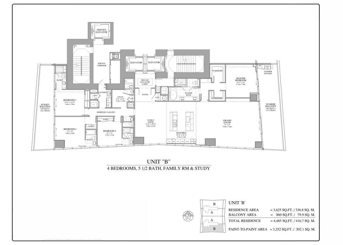 Turnberry Ocean Club - Floorplan 7