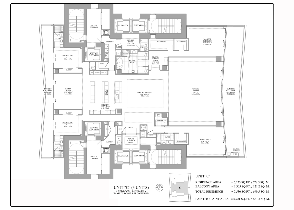 Turnberry Ocean Club - Floorplan 9