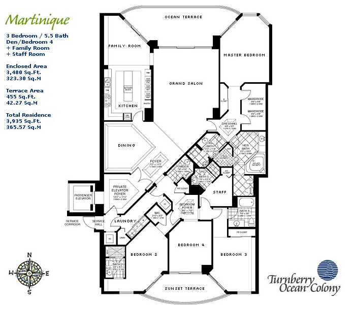 Turnberry Ocean Colony - Floorplan 1