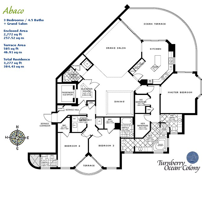 Turnberry Ocean Colony - Floorplan 3
