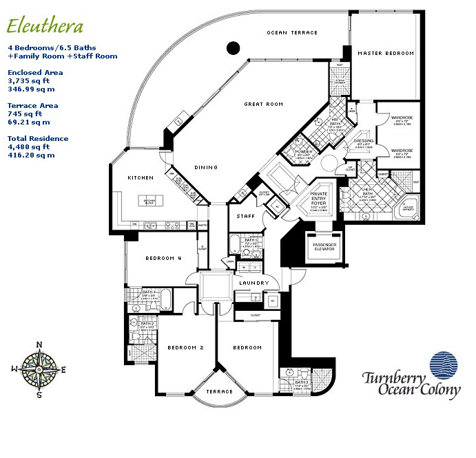 Turnberry Ocean Colony - Floorplan 4