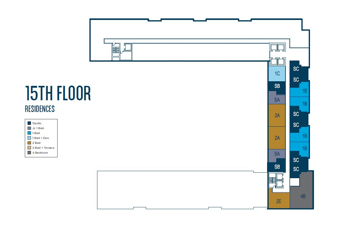 University Bridge Residence - Floorplan 3