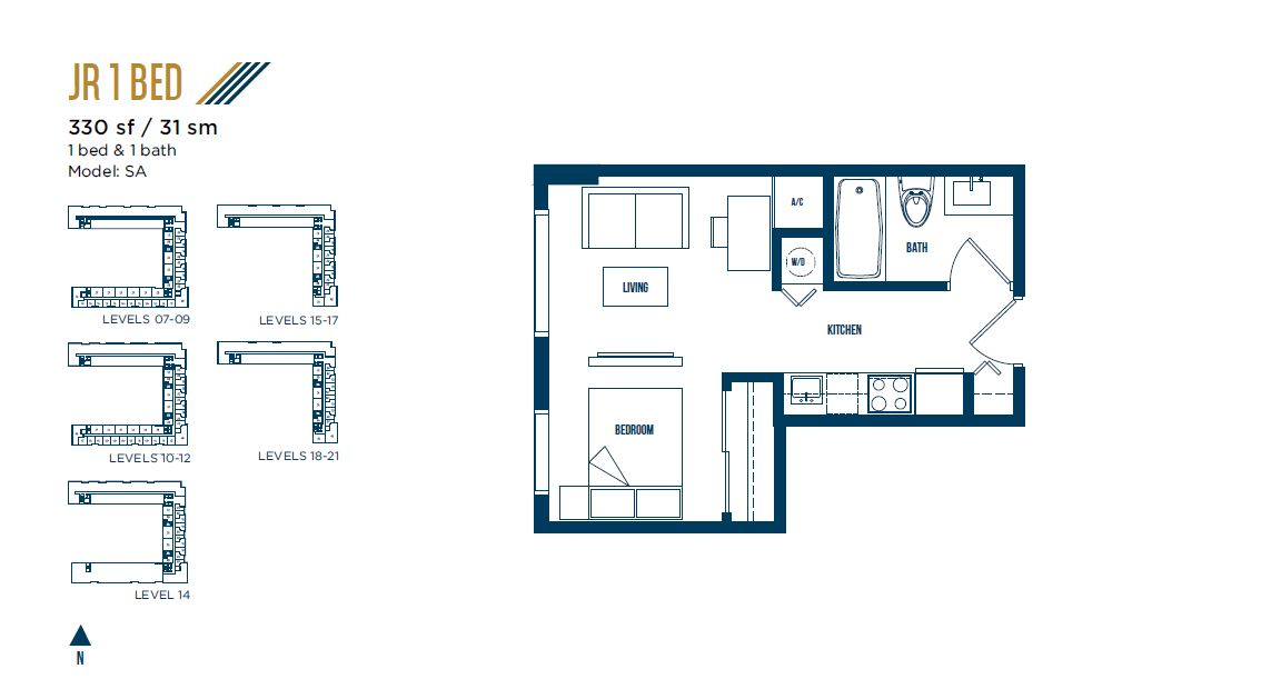 University Bridge Residence - Floorplan 4