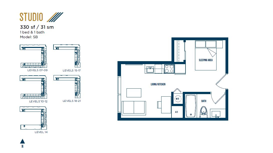 University Bridge Residence - Floorplan 5