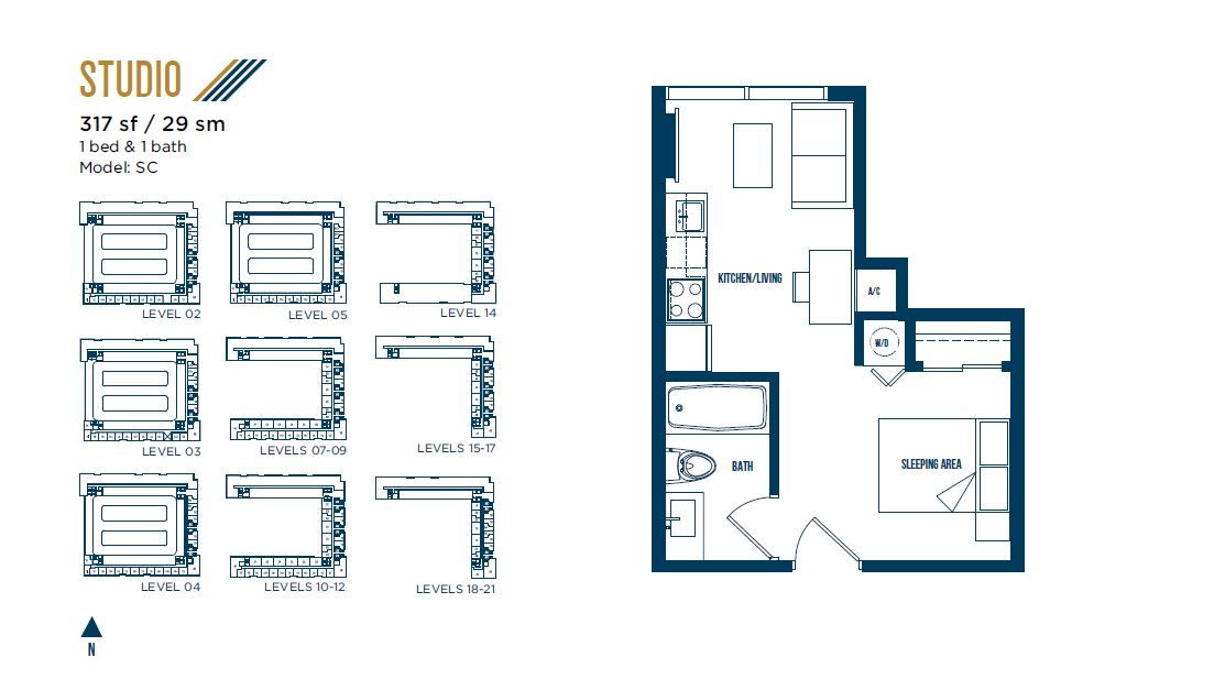 University Bridge Residence - Floorplan 6