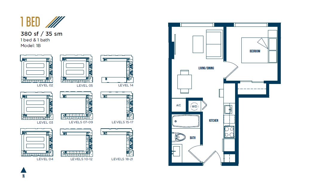 University Bridge Residence - Floorplan 9