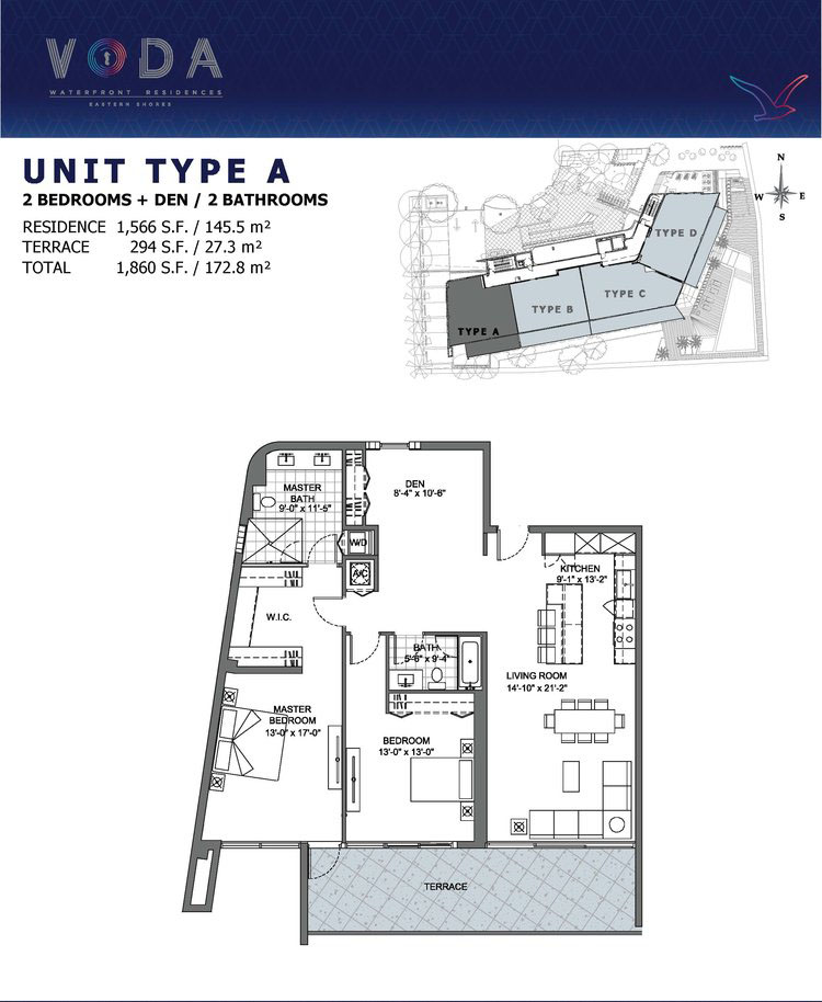 VODA Waterfront Residences - Floorplan 1