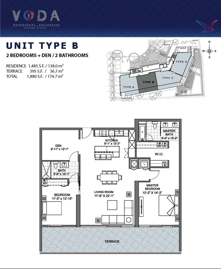 VODA Waterfront Residences - Floorplan 2