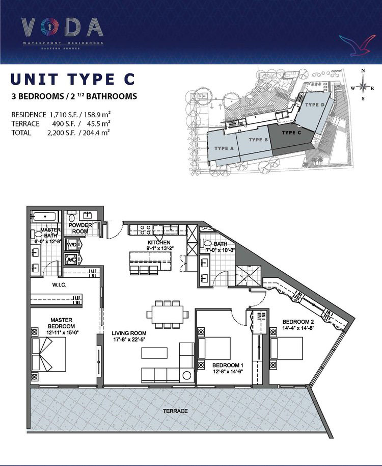 VODA Waterfront Residences - Floorplan 3