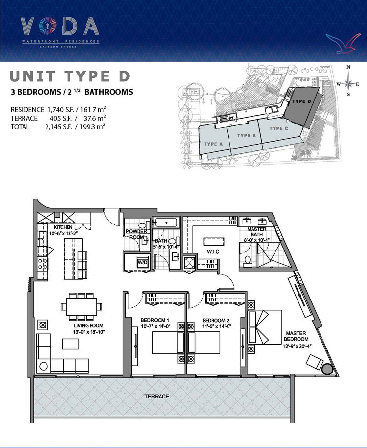 VODA Waterfront Residences - Floorplan 4