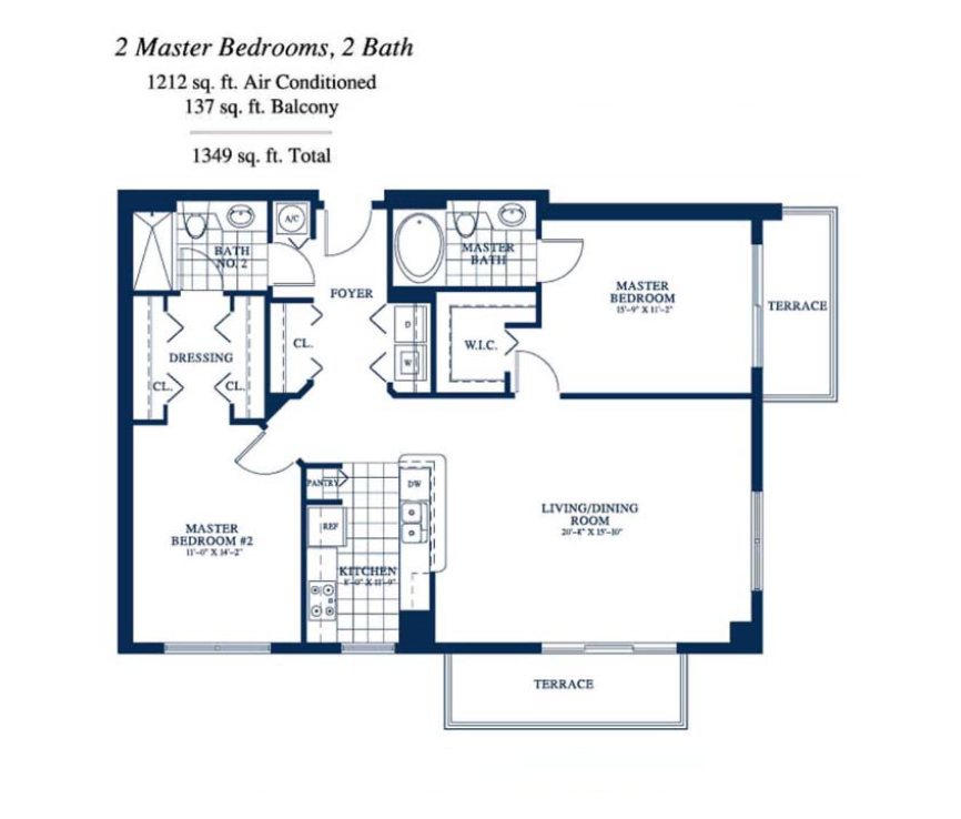 Yacht Club At Portofino - Floorplan 1