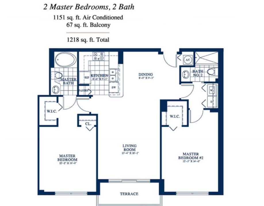 Yacht Club At Portofino - Floorplan 2
