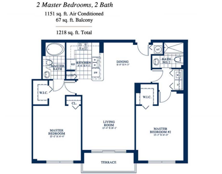 Yacht Club At Portofino - Floorplan 7