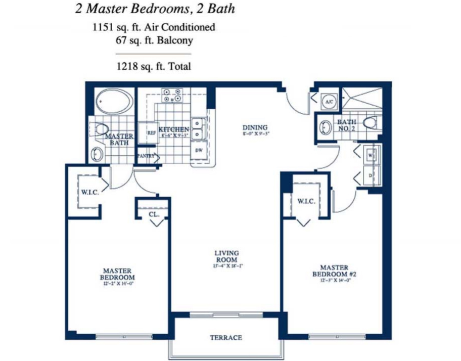 Yacht Club At Portofino - Floorplan 12